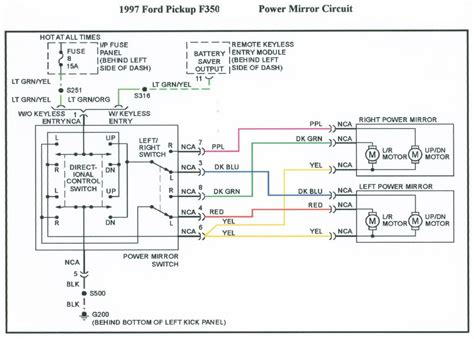 wiring diagram 1996 ford f150 mirrors wiring free
