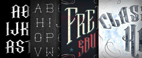 tattoo fonts urban 20 cool fonts for your next vintage design