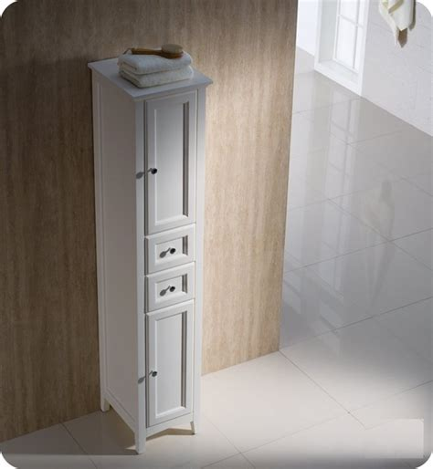 fresca oxford antique bathroom linen cabinet modern