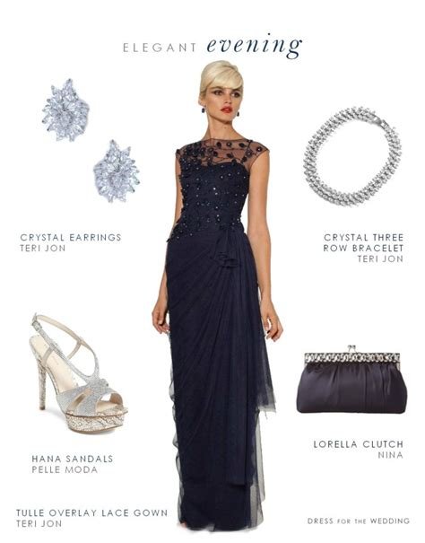 Navy Evening Gown for Mother of the Bride or Groom