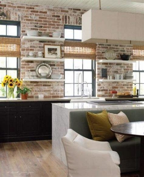 kitchens with brick walls 67 stylish kitchens with a brick wall comfydwelling com
