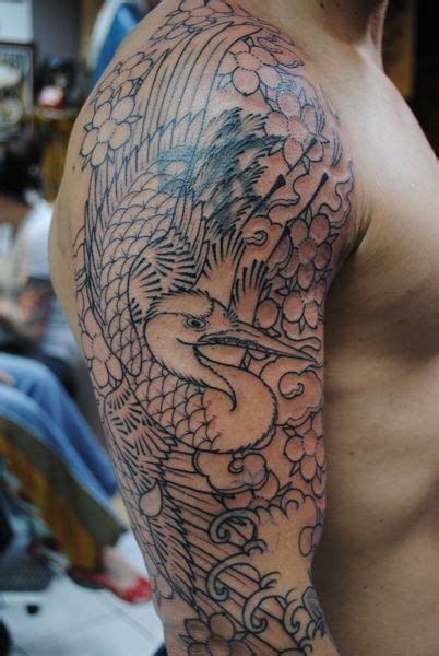 japanese crane tattoo designs japanese crane designs