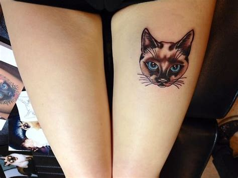 siamese cat tattoo ink it up trad tattoos siamese cat on my thigh