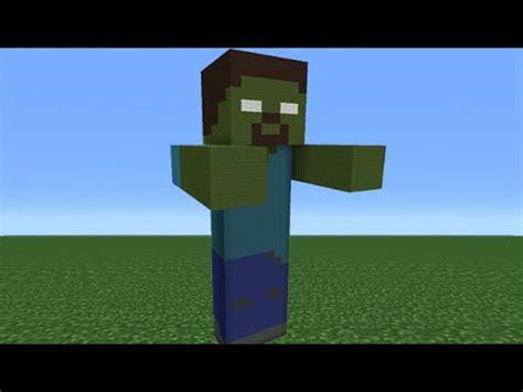 minecraft tutorial zombie statue minecraft tutorial how to make a zombie herobrine statue