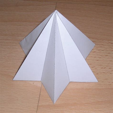 paper pyramid craft paper model hexagrammic pyramid design freebies