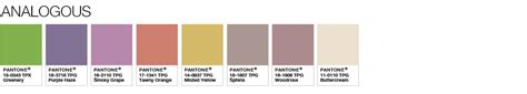 2017 pantone color palette pantone color of the year 2017 color palette analogous