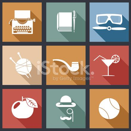 retro style pet icons set vector free download retro flat design hipster detective icons set vector