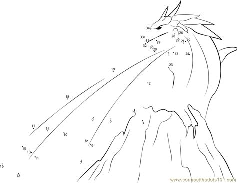 dot to dot dragon printables fantasy dragon dot to dot printable worksheet connect