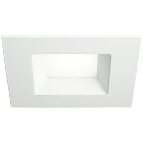 square recessed lighting retrofit 6 quot white square retrofit 15 watt led recessed light