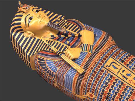 model king tutankhamun sarcophagus cgtrader
