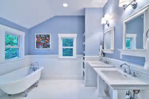 white and blue bathroom blue and white master bath cottage style craftsman