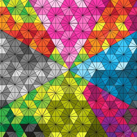 kaleidoscope pattern video hexagon kaleidoscope pattern optical illusion stock
