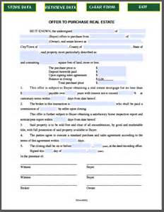 real estate purchase offer form free fillable pdf forms
