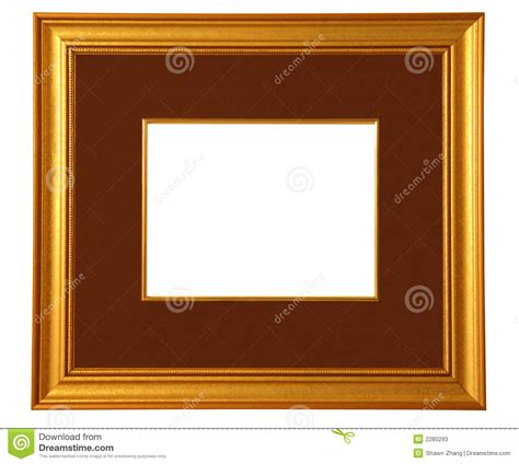 Frames With Mat by Golden Picture Frame With Mat Stock Photos Image 2280293