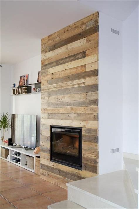 1000 ideas about pallet fireplace on faux