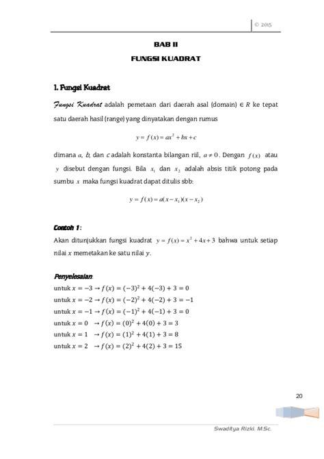 aplikasi persamaan  fungsi kuadrat