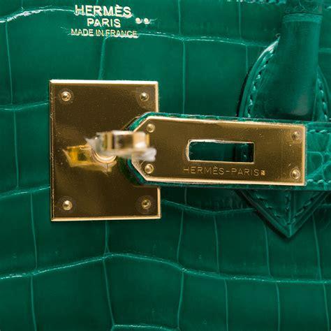 H Mes Birkin Croco Nilo hermes birkin bag 30cm emerald vert emerude shiny nilo