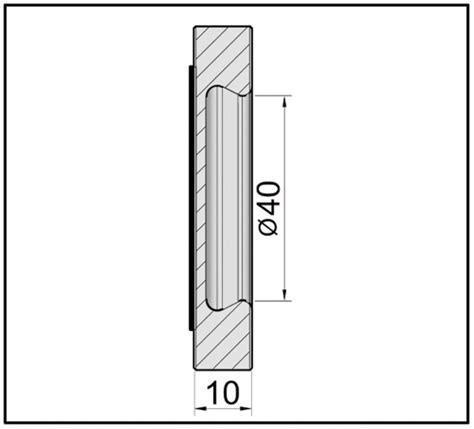 Adhesive Glass Door Handles - finger pull handle square self adhesive glass door