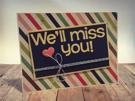printable card we ll miss you handmade we ll miss you greeting card