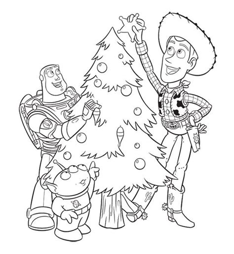 coloring pages christmas disney characters toy story christmas coloring page coloring pages for