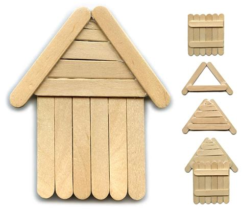 building crafts for how to diy popsicle stick house popsicles and