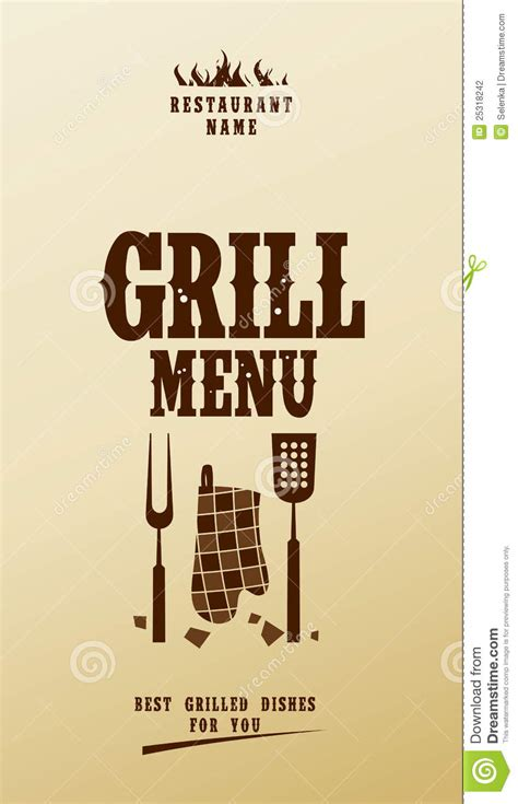 grill menu stock photography image 25318242