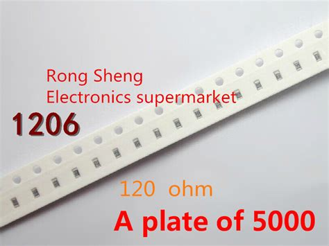 Resistor Smd 120 K Ohm 1206 1 10 Pcs 1206 120 ohm 120r 1206 5 1 4w chip fixed resistor smd resistor a plate of 5000 free shipping in