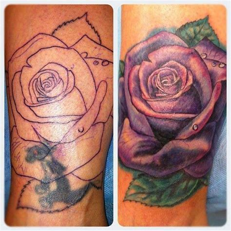 rose cover up tattoo inked up pinterest
