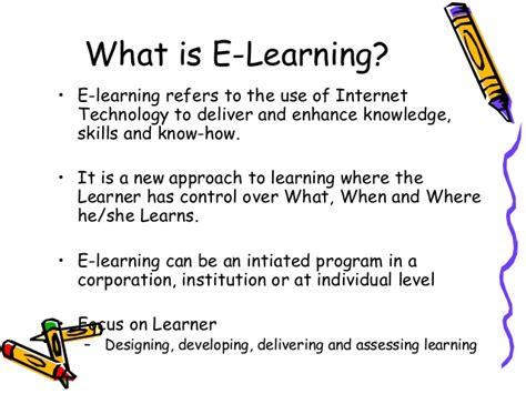 what is what is elearning