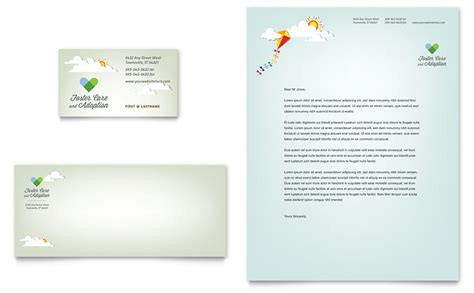 Foster Care Adoption Business Card Letterhead Template Word Publisher Letterhead And Business Card Templates