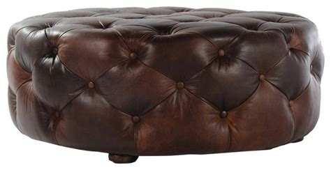 large leather tufted ottoman tufted round leather ottoman traditional footstools