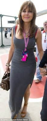 High Heels Cassual Gp 06 carol vorderman distracts from race in skintight dress