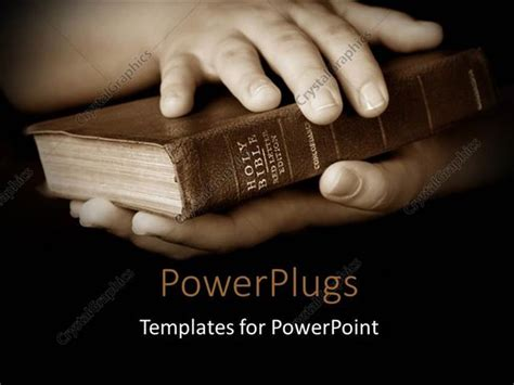 Powerpoint Template Pair Hands Holding Well Read Holy Bible 3388 Bible Powerpoint Template