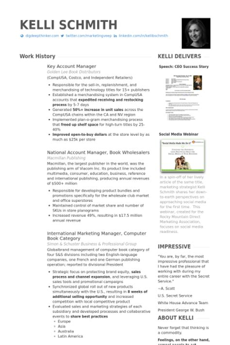 key account manager resume sles visualcv resume