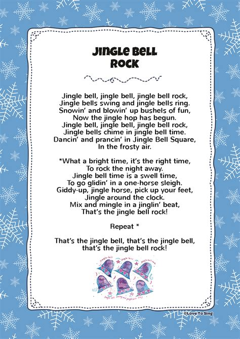 printable lyrics jingle bell rock jingle bell rock kids video song with free lyrics