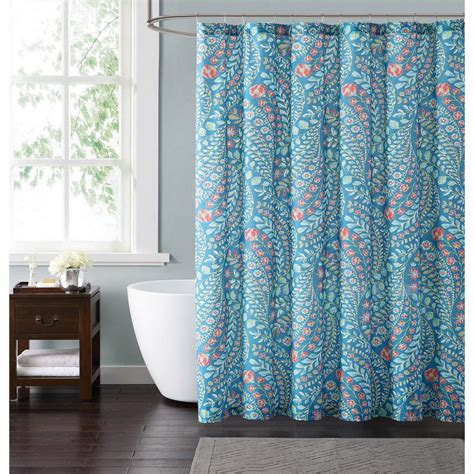 coral and teal shower curtain style 212 jaclyn geo 72 in teal and coral shower curtain