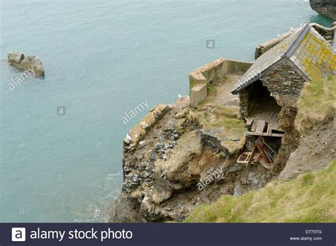 buy a house in devon ruins of a house in the deserted village of hallsands south devon stock photo