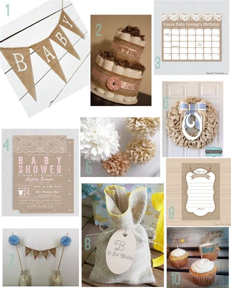 Rustic Baby Shower Decorations by Burlap Baby Shower Decorations Rustic Baby Chic