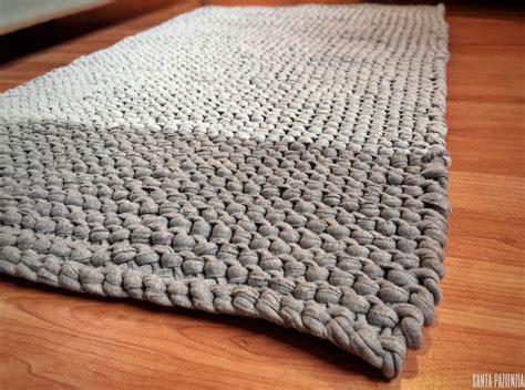 alfombra ganchillo alfombra en punto bobo de trapillo santa pazienzia