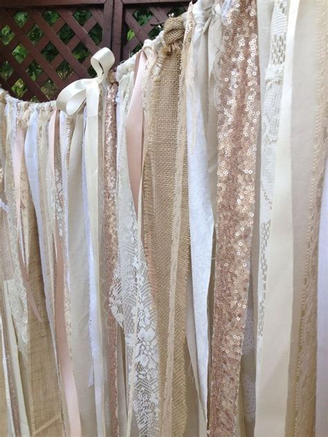 Burlap And Lace Curtains Burlap Sequins Lace Backdrop Tattered Valance Curtain Chagn