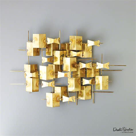 global views folded brass wall decor