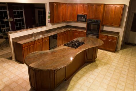 small oval island granite top mesmerizing brown mahogany kitchen set with oval top