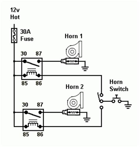 12 volt horn wiring diagram 27 wiring diagram images