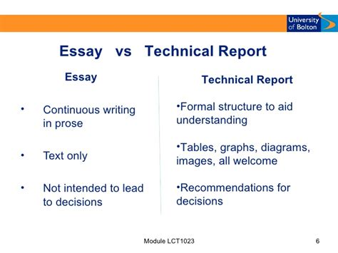 Report Vs Essay by Report Writing