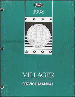 car engine repair manual 1998 mercury villager navigation system 1998 mercury villager engine and emissions diagnosis manual