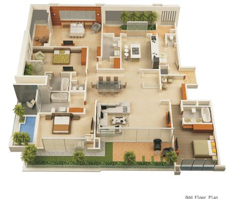 Modern Home Floor Plans by Modern Home 3d Floor Plans