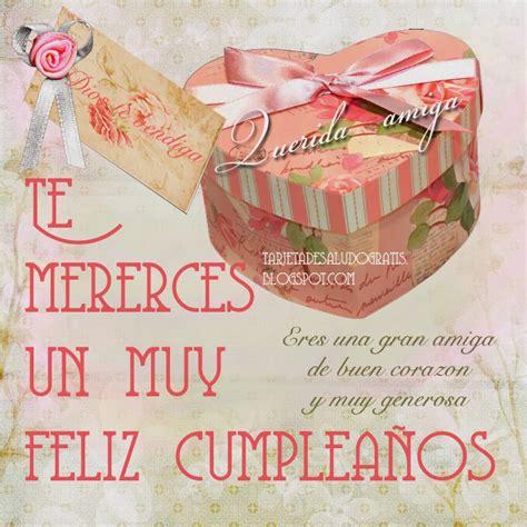 imagenes de cumpleaños vintage tarjeta de feliz cumplea 241 os amiga con estilo vintage