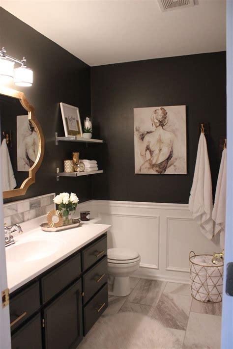 master bathroom tile dark walls  house