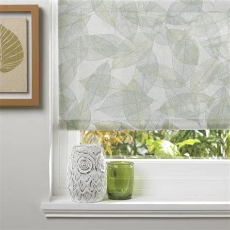 leaf pattern blinds b q sensu skeleton leaf pattern roller blind in sage