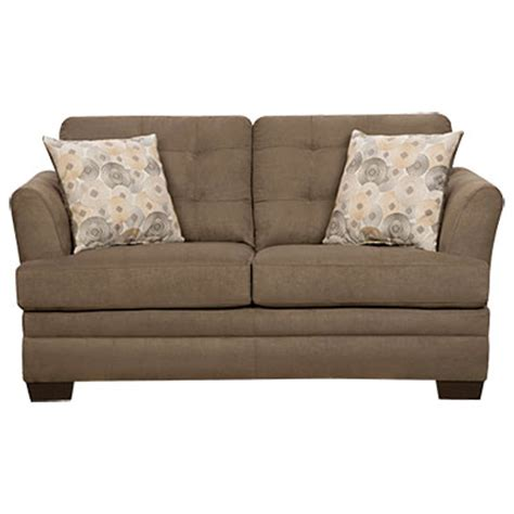 Simmons Velocity Shitake Loveseat With Gigi Pillows